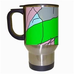 Crazy abstraction Travel Mugs (White)