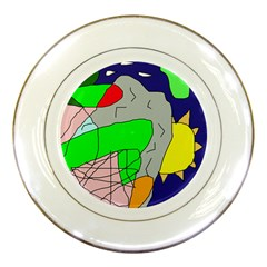 Crazy abstraction Porcelain Plates