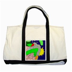 Crazy abstraction Two Tone Tote Bag