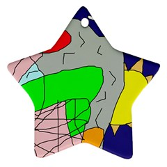Crazy abstraction Star Ornament (Two Sides)