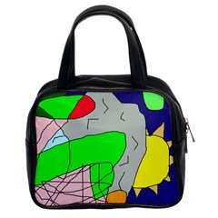 Crazy abstraction Classic Handbags (2 Sides)
