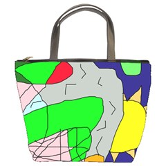 Crazy abstraction Bucket Bags
