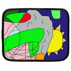Crazy abstraction Netbook Case (XXL)