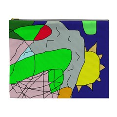 Crazy abstraction Cosmetic Bag (XL)