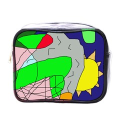 Crazy abstraction Mini Toiletries Bags