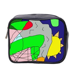 Crazy abstraction Mini Toiletries Bag 2-Side