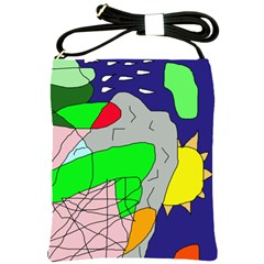 Crazy abstraction Shoulder Sling Bags