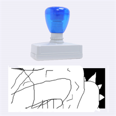 Crazy abstraction Rubber Stamps (Large)