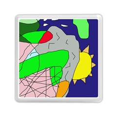 Crazy abstraction Memory Card Reader (Square)