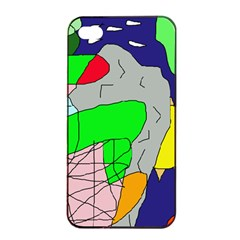 Crazy abstraction Apple iPhone 4/4s Seamless Case (Black)