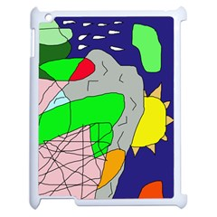 Crazy abstraction Apple iPad 2 Case (White)