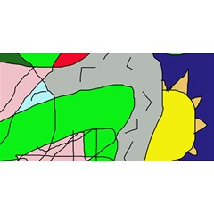 Crazy Abstraction You Are Invited 3d Greeting Card (8x4)