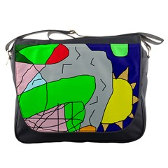 Crazy abstraction Messenger Bags