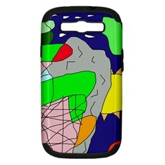 Crazy abstraction Samsung Galaxy S III Hardshell Case (PC+Silicone)