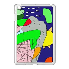 Crazy abstraction Apple iPad Mini Case (White)