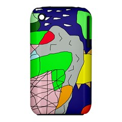 Crazy abstraction Apple iPhone 3G/3GS Hardshell Case (PC+Silicone)