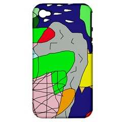 Crazy abstraction Apple iPhone 4/4S Hardshell Case (PC+Silicone)