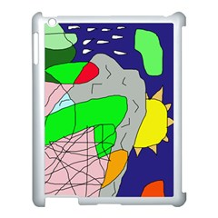 Crazy abstraction Apple iPad 3/4 Case (White)