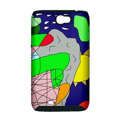 Crazy abstraction Samsung Galaxy Note 2 Hardshell Case (PC+Silicone)