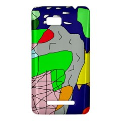 Crazy abstraction HTC One SU T528W Hardshell Case