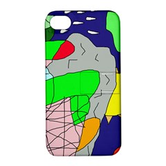 Crazy abstraction Apple iPhone 4/4S Hardshell Case with Stand