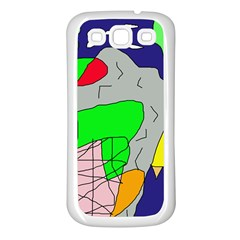 Crazy abstraction Samsung Galaxy S3 Back Case (White)