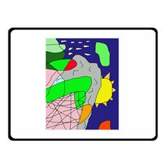 Crazy abstraction Double Sided Fleece Blanket (Small)