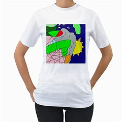 Crazy abstraction Women s T-Shirt (White)