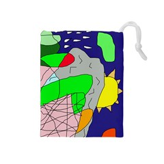 Crazy abstraction Drawstring Pouches (Medium)