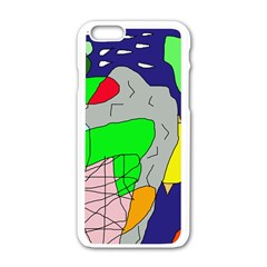 Crazy abstraction Apple iPhone 6/6S White Enamel Case