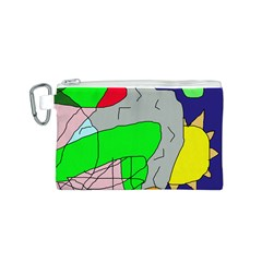 Crazy abstraction Canvas Cosmetic Bag (S)