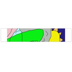 Crazy abstraction Flano Scarf (Large)