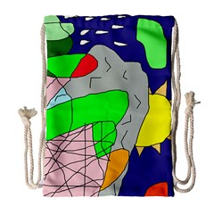 Crazy abstraction Drawstring Bag (Large)