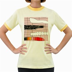 Worms Women s Fitted Ringer T-Shirts