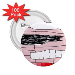Worms 2.25  Buttons (100 pack)