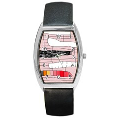 Worms Barrel Style Metal Watch