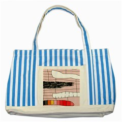 Worms Striped Blue Tote Bag