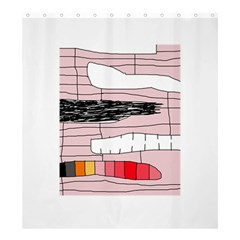 Worms Shower Curtain 66  x 72  (Large)