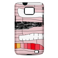 Worms Samsung Galaxy S II i9100 Hardshell Case (PC+Silicone)