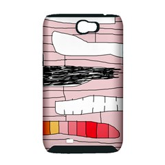 Worms Samsung Galaxy Note 2 Hardshell Case (PC+Silicone)