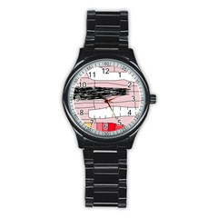 Worms Stainless Steel Round Watch