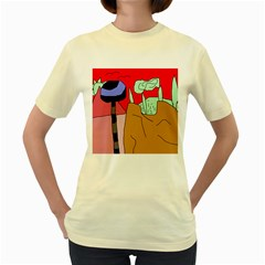 Imaginative abstraction Women s Yellow T-Shirt