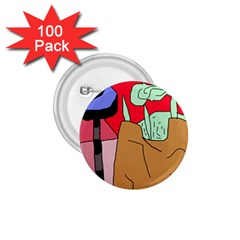 Imaginative abstraction 1.75  Buttons (100 pack)