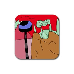 Imaginative abstraction Rubber Coaster (Square)
