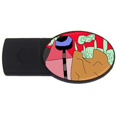 Imaginative abstraction USB Flash Drive Oval (1 GB)