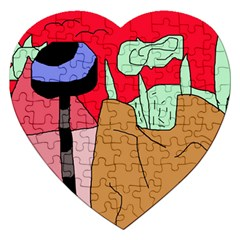 Imaginative abstraction Jigsaw Puzzle (Heart)