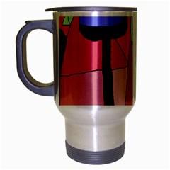 Imaginative abstraction Travel Mug (Silver Gray)