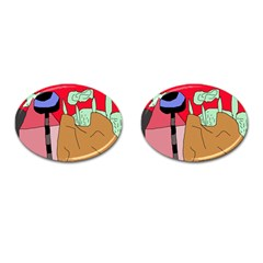 Imaginative abstraction Cufflinks (Oval)