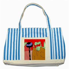 Imaginative abstraction Striped Blue Tote Bag