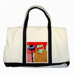 Imaginative abstraction Two Tone Tote Bag